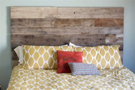 diy headboard wood creatively diy reclaimed wood headboard