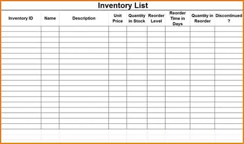 inventory checklist template authorization letter