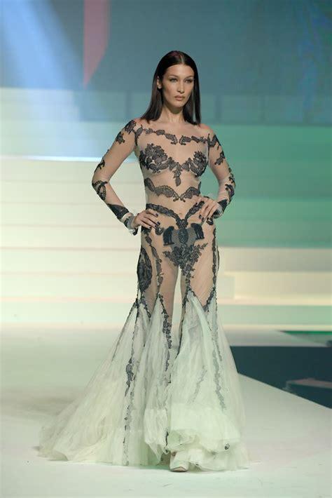 bella hadid sheer dress lookbook stylebistro