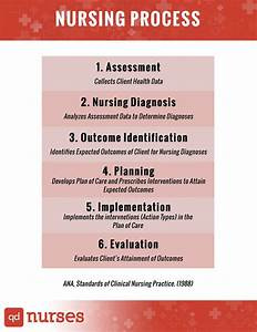 The nursing process include assessment, nursing diagnosis ...