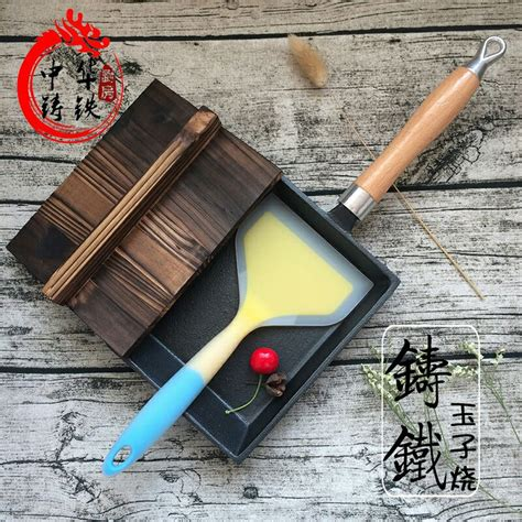egg japanese iron cast square frying eggs non tamagoyaki stick fried rolls coating pot nonstick pan thick pans pancake burn