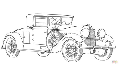 fashioned car coloring page  printable coloring