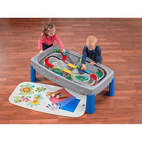step2 deluxe table step2 deluxe road track table with