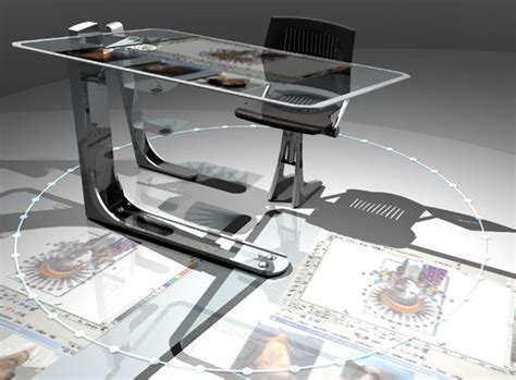 Futuristic Desk, Maybe Hide Its Capabilities In A Wooden