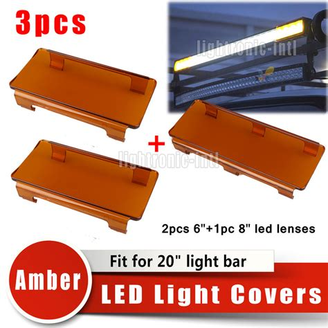 20 quot inch 120w snap on led light bar lens covers set