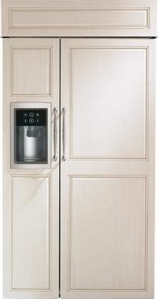 ge monogram zisbdh   panel ready counter depth side  side refrigerator   cu