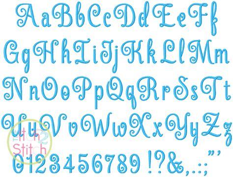 elegant scroll script embroidery font  itch  stitch