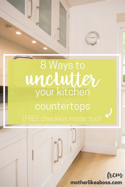 unclutter your life clearing the kitchen counter of 8 ways to unclutter your kitchen counters and keep them