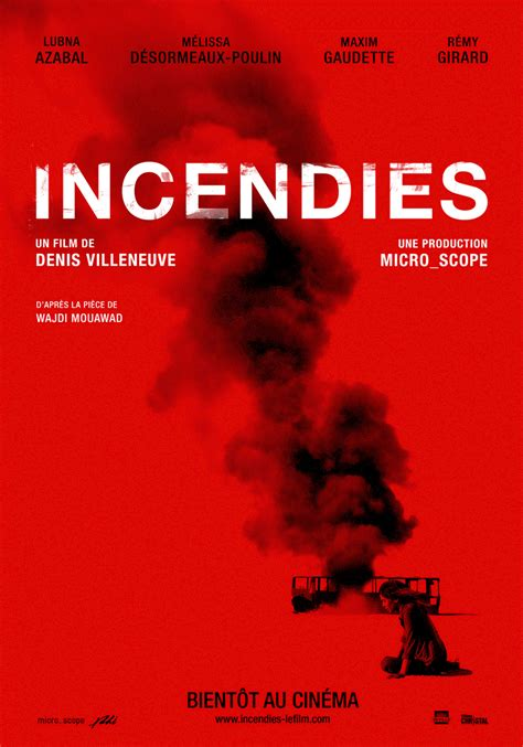incendies de denis villeneuve revue  babord