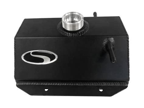 steeda mustang coolant expansion tank black
