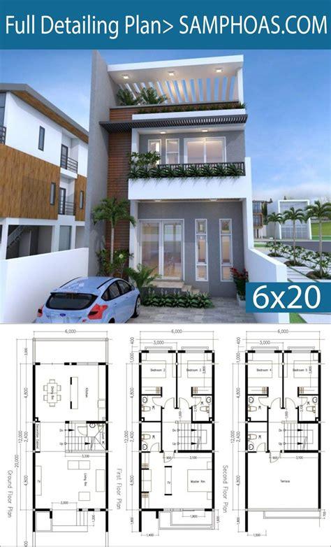 5 Bedrooms Modern Home Plan 6x12m SamPhoas Plansearch #