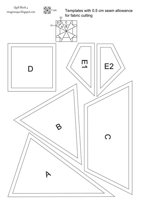 quilting templates imaginesque quilt block 4 pattern and templates
