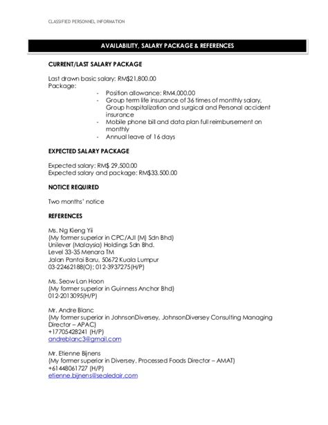 Last Salary In Resume by Resume Wcs March2015