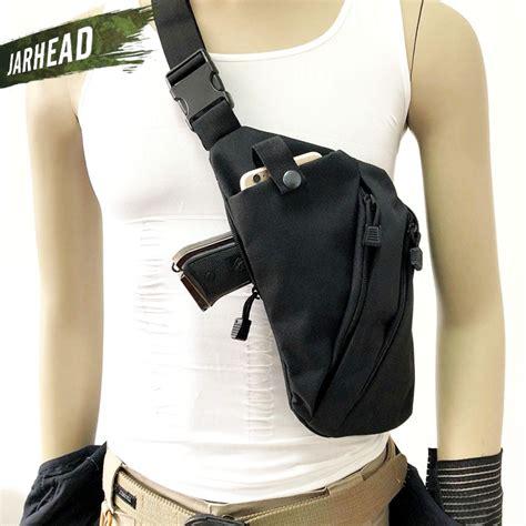 multifunctional concealed tactical storage gun bag holster mens left  nylon shoulder bag