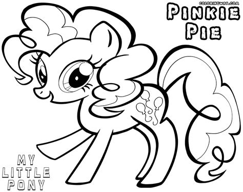 Kleurplaat Pinkie Pie by My Pony Coloring Pages Coloring Pages To