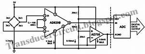 Pressure Transducer Bridge Monitor Circuit Using Ad620