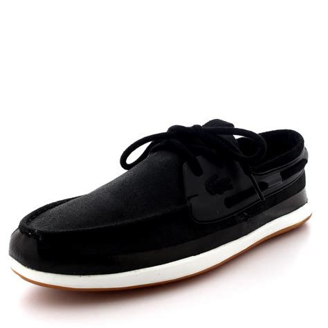 Lacoste Black Boat Shoes by Mens Lacoste Landsailing 116 2 Moccasin Leather Casual