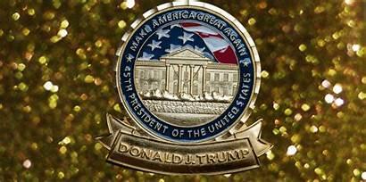 Coin Trump Challenge Presidential Donald America Again