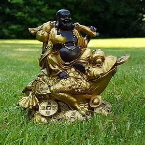 Feng Shui Frosch : happy buddha auf frosch deko figur feng shui statue budda on frog joga gl ck ebay ~ Sanjose-hotels-ca.com Haus und Dekorationen