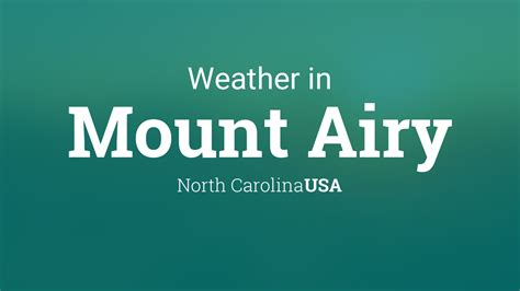 weather  mount airy north carolina usa