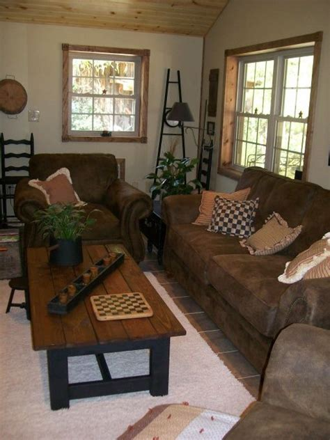 Primitive Decorating Ideas For Living Room by Primitive Country And Folk Living Room Designs