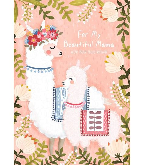 mothers day card design  illustration