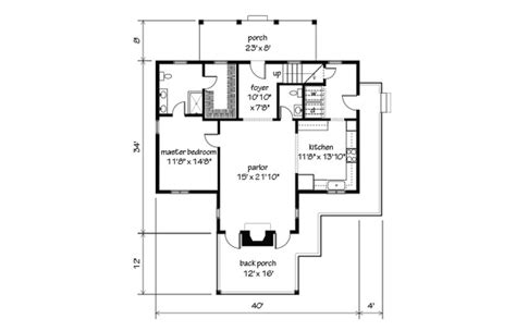 garden home cottage print southern living house plans
