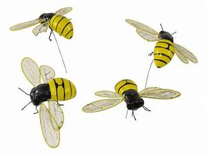 LifeLike Large Bee 11 x 6cm Pk4 - Fake Insects Spiders