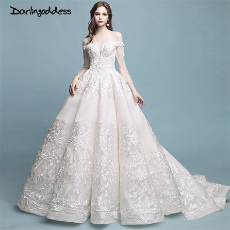 Wedding Gowns darlingoddess robe de mariage vintage luxury lace wedding