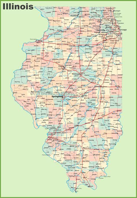 map  illinois  cities  towns