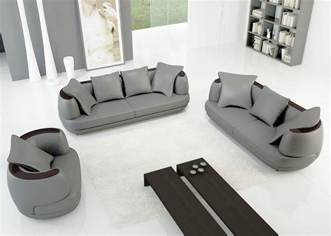 canape gris cuir deco in ensemble canape 3 2 1 places en cuir gris