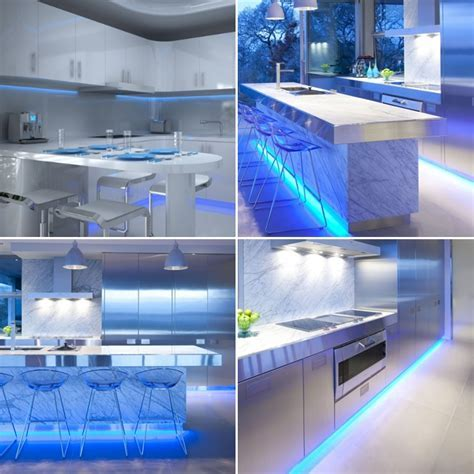 Blue Under Cabinet Kitchen Lighting / Plasma TV LED Strip Sets
