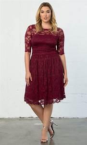 Simply Be Bra Size Chart Luna Lace Dress Plus Size Lace Overlay Dress Kiyonna