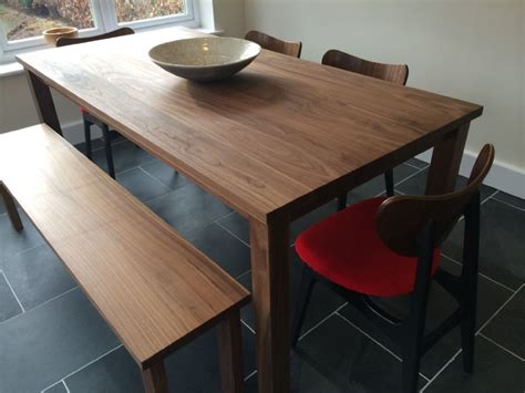 solid american black walnut dining table   benches