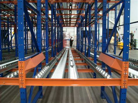 pallet flow rack flow rack systems products advance storage