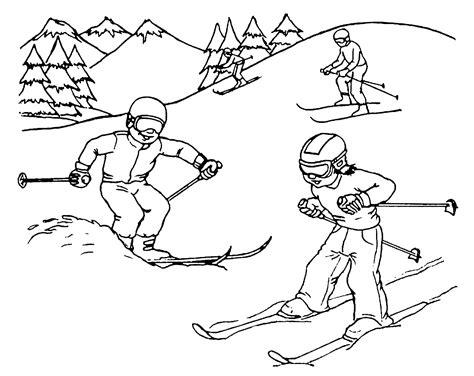 disegni da colorare sciare