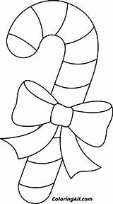 Candy Coloring Cane Printable Coloringall Stencils Crafts Simple Preschool Holiday sketch template