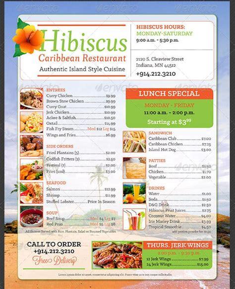 price menu template ai docs psd pages