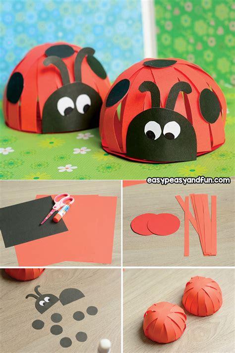 paper ladybug craft easy peasy and 215 | Construction Paper Ladybug Craft