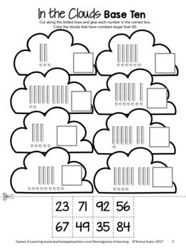 tens   place  worksheets  digit numbers cut
