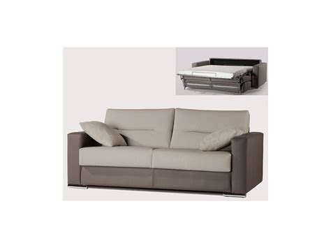 canap 233 3p convertible express simili gris clair quentin