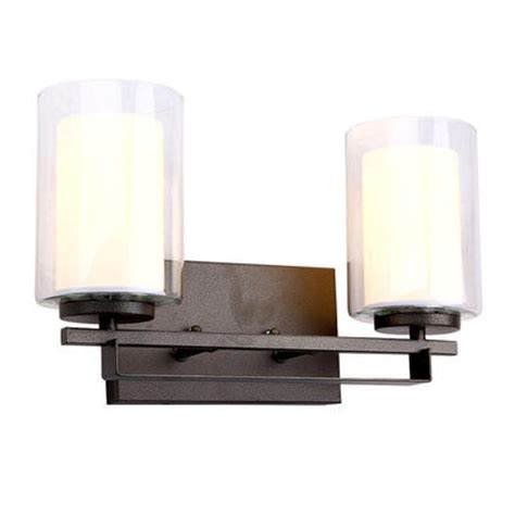 double shade black painting 2 lights wall l