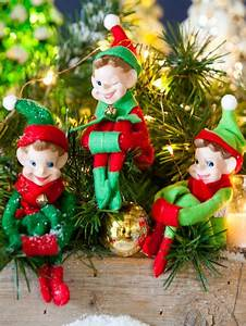 Classic Christmas Elves From Memory Lane Package Of 3