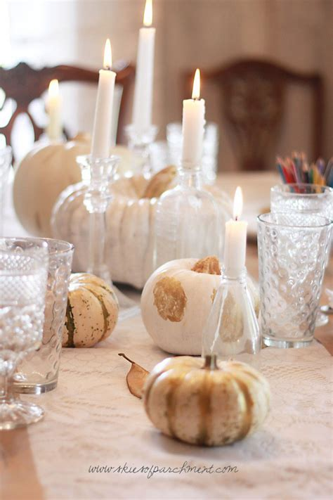 pretty table decorating ideas  thanksgiving day