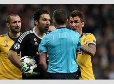 Real Madrid vs Juventus Gianluigi Buffon insults referee