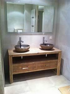 idee decoration salle de bain meuble salle de bain pays With idee meuble salle de bain