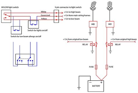 need help wiring light to get hi and lo together adventure rider