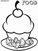 Coloring Food Pages Cute Print Cutefood sketch template