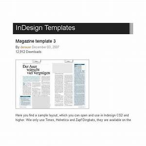 Great Free Magazine Layout Templates: Use As