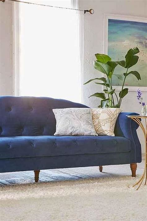 blue tufted sectional sofa jennifer taylor blue velvet polyester tufted back sofa